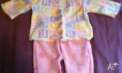 Lovingly home made polar fleece tracksuit for girl