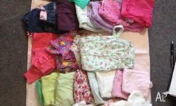 Baby Girl Clothes - box of 40 tems mainly 0 +00