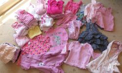 Baby Girls Newborn size 00 clothes. In good to