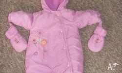 Baby girl ski suit. Pumpkin Patch brand. Size 000 (0-3