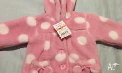 Brand new with tag jacket size 00 pink with white
