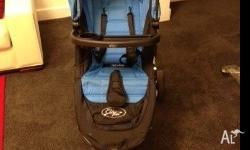 Black and blue limited edition baby jogger city mini
