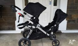 Baby jogger city select double pram with second seat