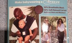 White 'breeze' baby k'tan infant carrier. Size Medium.