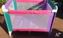Portable fold up easy to carry and store cot. This cot