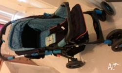 Brand is Mother's Choice, seat can be lower so baby can