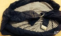 For Sale: Navy Baby Snug Bug Ring Sling in great