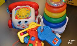 3 awesome fab cond fisher price baby toys!