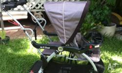 Baby Trend Sit N Stand Double Stroller for sale. Front