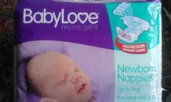 New packets of Newborn Nappies up to 5kg, have 4 pkts