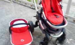 Icandy baby pram & baby carrier, good condition, clean,