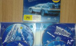 Back to the Future trilogy. 3x DVD movies. - 4 DVD's in