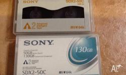 1. 12 Sony AIT-2 SDX2-50-C, 1 cleaning tape,  1 SONY