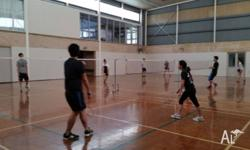 We are a group of people who love to play badminton to