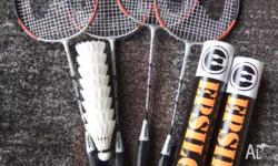 $25 the lot, includes 4 x carbon shaft badminton