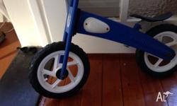 Great quality balance bike. Basically unused. Some rust