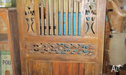 Balinese handcrafted diviider screens. Two large ones