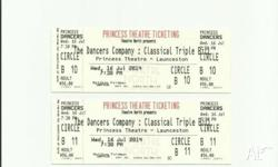 "2 tickets to ""The Dancers Company: Triple Bill"" ballet"