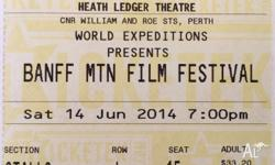 Banff Mountain Film Festival tickets. Great seats in