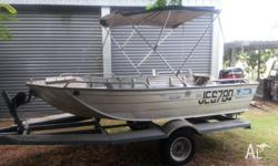 Good condition (3.7mtr) Bara Boat with 25 HP Mercury, 2