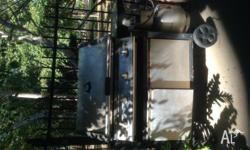 Stainless steel BBQ with hood, full cabinet, 4 burner