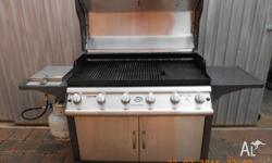 Barbeque 6 Burner with Hood includes side burner and