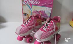 Barbie Roller skates size 1 some scuffs around toe area