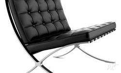 barcelona chair black also available in red and white.