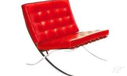 barcelona chair red also available in black and white.