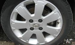 HOLDEN BARINA XC 2005 SET OF 4 MAG WHEELS & TYRES FOR