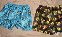 $5.00 for both. X2 Bart Simpson satin boxer shorts.