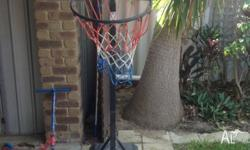 Basket ball net with water anchor base. In need of