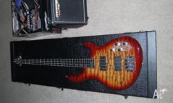 Cort action dlx bass guitar,10 watt tourbus amp and