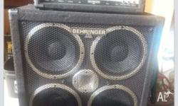 Here I have a Behrenger Head unit 450watts and a
