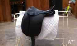 Bates Childs Dressage Saddle Black 15in Excellent