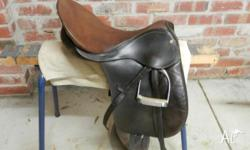 "Bates Eventing saddle 17"". Very good condition & well"