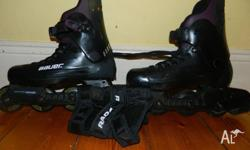 Hardly used roller blades. Black, Grey & Purple womens