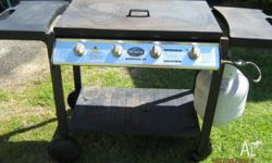Jackaroo Burwood 4 Burner BBQ, Grill & Hot Plate with a