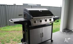 BBQ 4 Burner with rotisserie and side burner, Warming