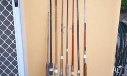 Reconditioned beach rods sold as a pack of 8. Up to 9ft