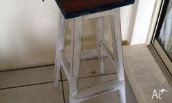 IT IS A VINTAGE WOODEN BAR STOOL ,, OR YOU CAN USE IT