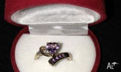 9kt Gold Amethyst stone Ring Brand new Never worn