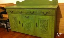 Beautiful Antique Retro Rare CABINET Hutch BUFFET