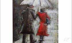 Beautiful, atmospheric, hand crafted couple in rain