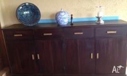 Beautiful solid hardwood buffet - great storage - was