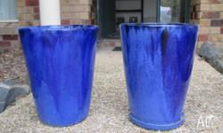 Beautiful Metalic Blue ceramic pots, new never used