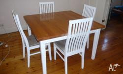 I am selling my dining table. It is a solid and strong