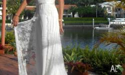 A beautifully designed Princess cut wedding dress worn