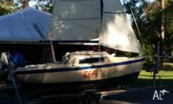 Fantastic Trailer Sailor restored with new sails and
