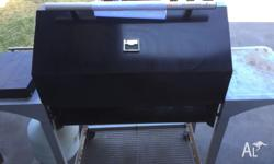 Beckley four burner BBQ, with additional gas cook top -